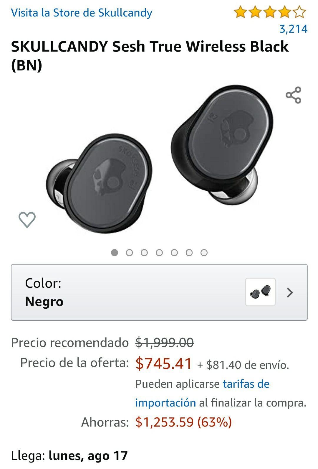 Amazon: Skullcandy Shesh Wireles