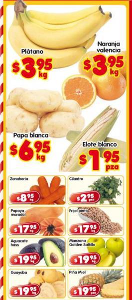 Frutas y verduras en HEB: plátano $3.95, papa $6.95 y más