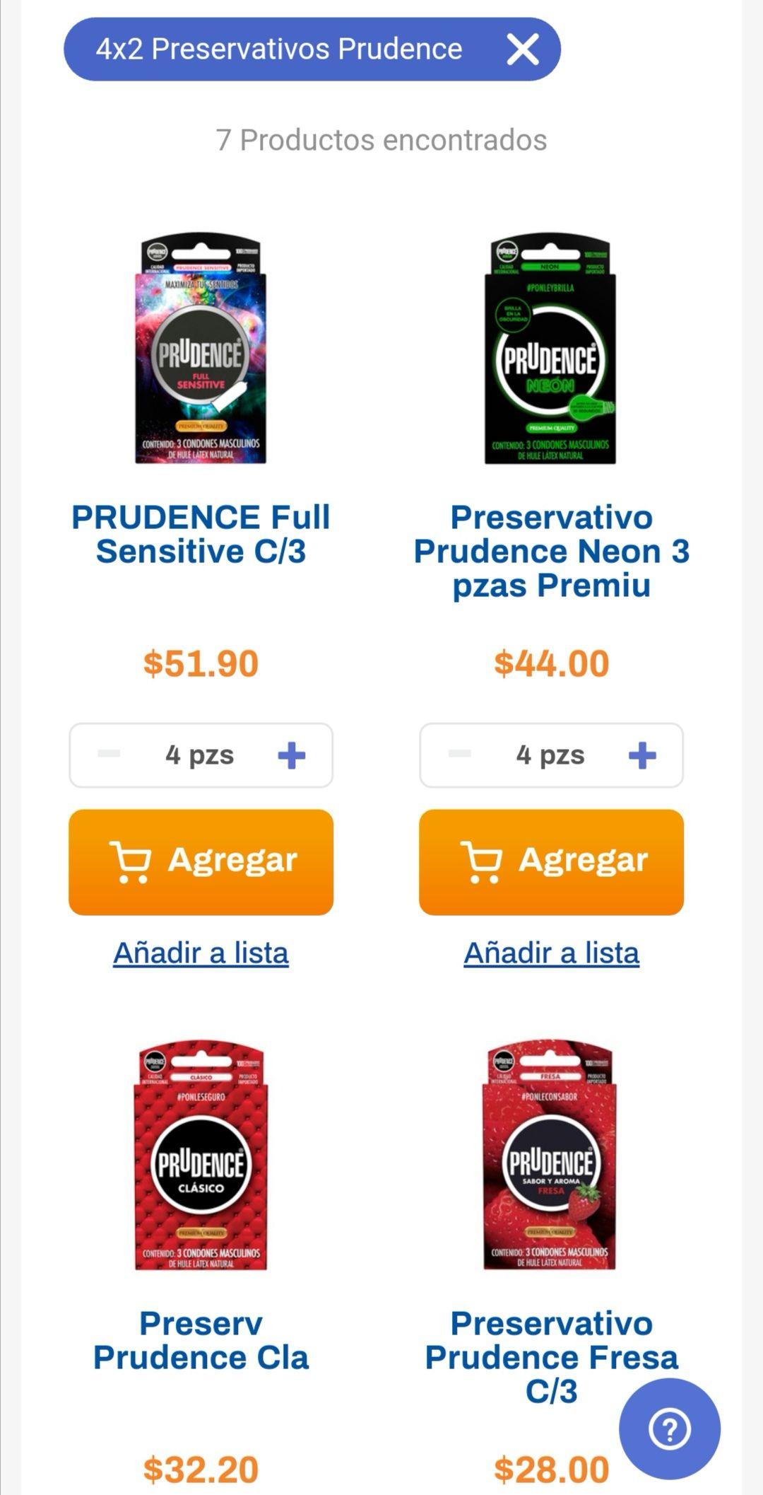 Chedraui: 4 x 2 en preservativos Prudence