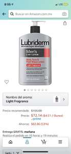 Amazon: Lubriderm Mens 3In1 Body Lotion Light Fragrance, for Men 473 ml