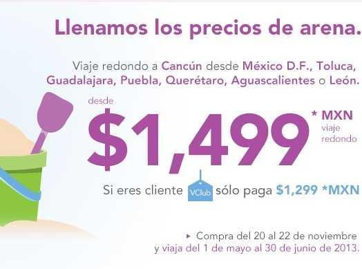 Volaris: vuelos a Cancún, Los Cabos y otras playas desde $1,499 redondo