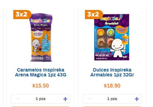 Chedraui: 3x2 en dulces Inspireka y Xtremes