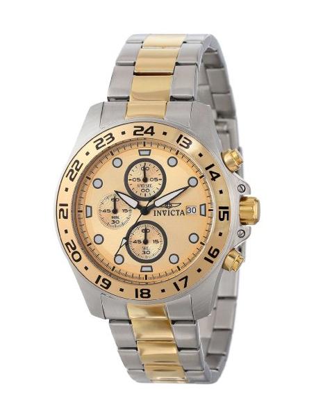 Amazon: reloj Invicta Men's 15207 Pro Diver cronógrafo esfera dorada dos tonos reloj acero inoxidable
