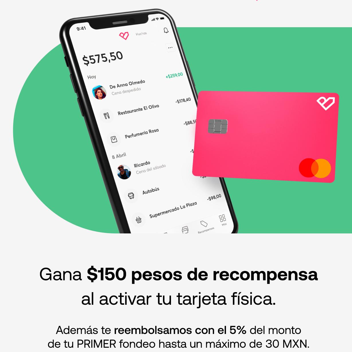 Bnext: gratis $150 al activar tu tarjeta + 5% extra de tu primer fondeo