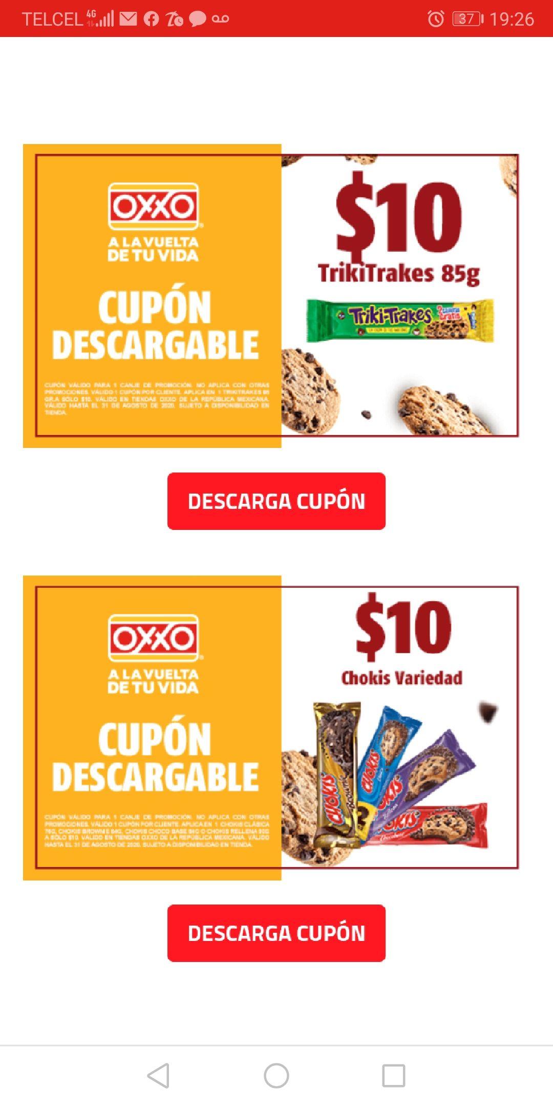 Oxxo: cupones para galletas