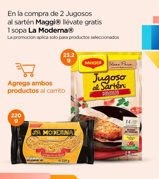 Chedraui: En la compra de 2 jugosos al sartén, llévate gratis 1 sopa La Moderna