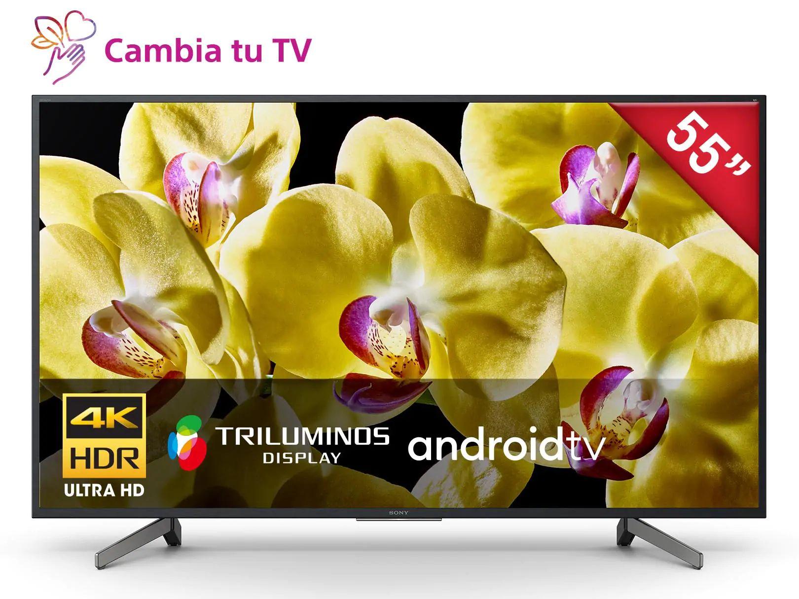 "Liverpool:Pantalla Sony 4K HDR de 55"" Mod. XBR-55X800G, con Triluminos display Smart TV LED (Tarjeta digital Banorte)"