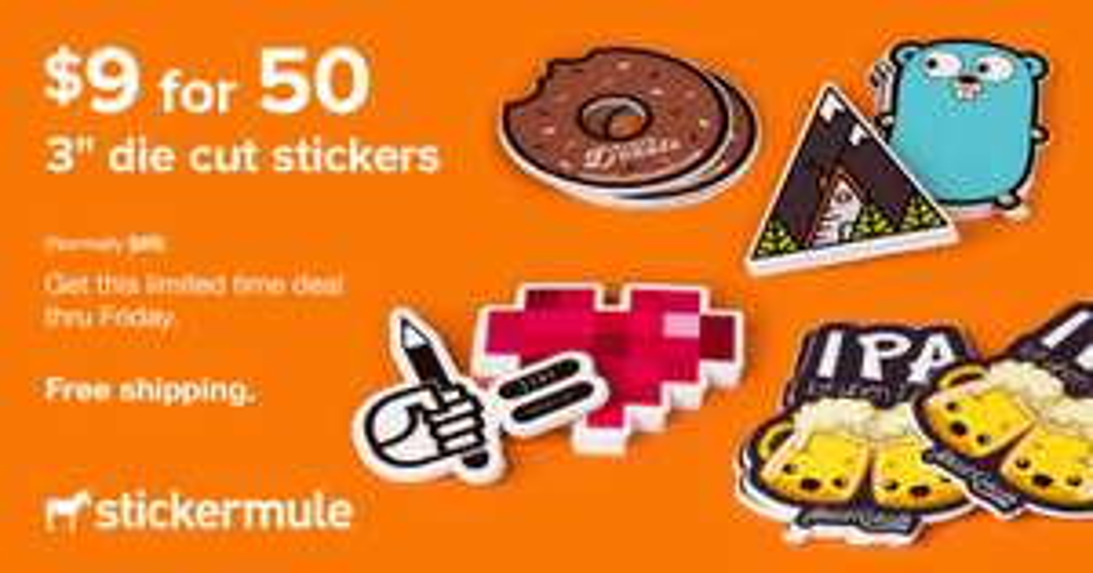 Stickermule: 50 Pegatinas por $9dlls ($172MXN) con envío gratis