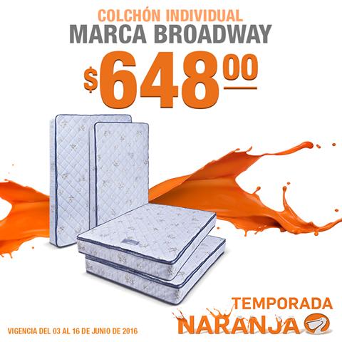 La Comer Temporada Naranja: Colchon Individual $648 Matrimonial $798