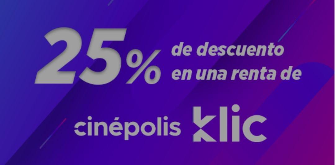 Movistar: 25% de descuento en Renta de Cinépolis KLIC
