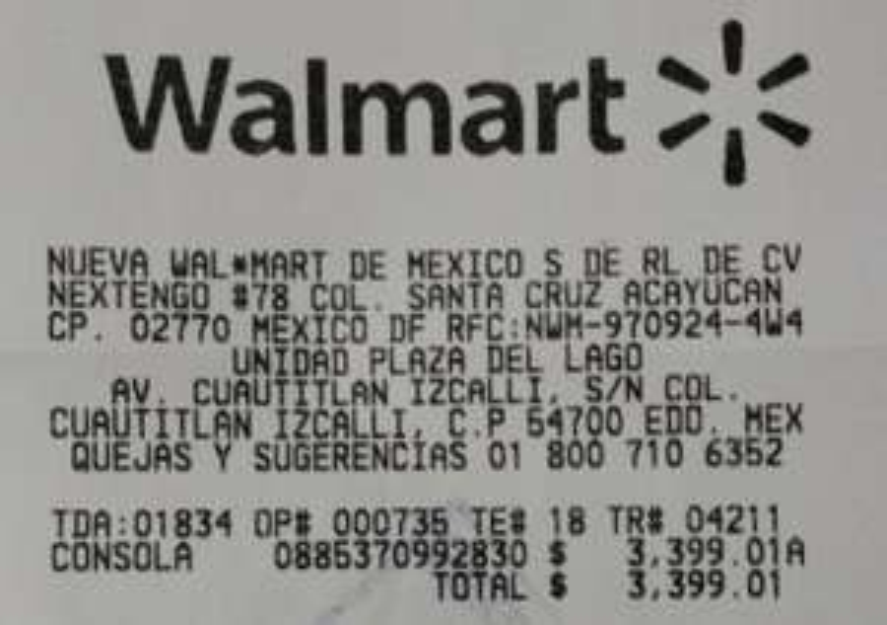 Walmart Lago: Xbox One Fifa 16 de 500GB a $3,399.01