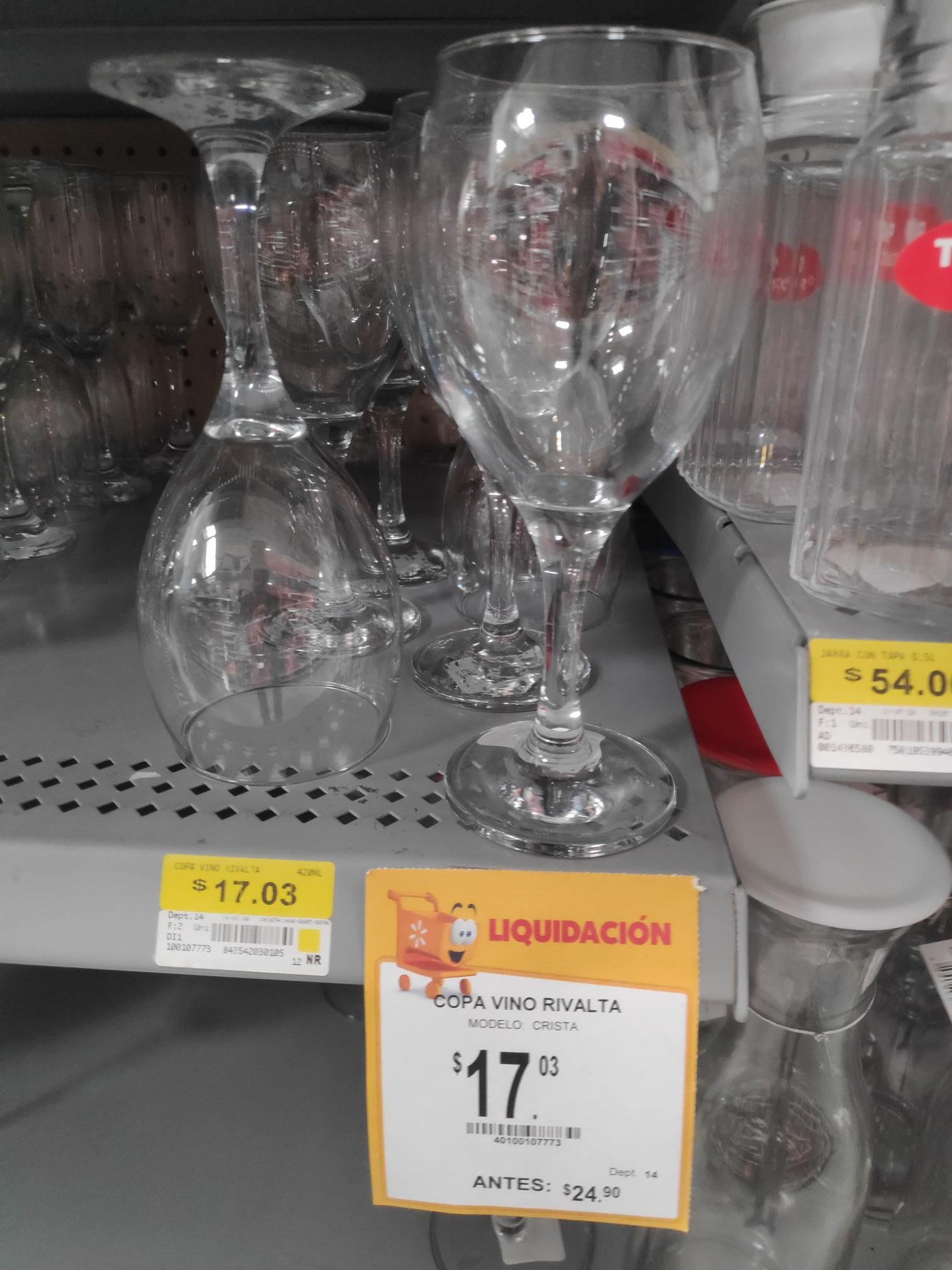 Walmart: Copa de vino 14oz 420ml