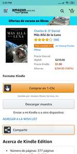 "Amazon Kindle: Libro Digital "" Más alla de la Luna"""