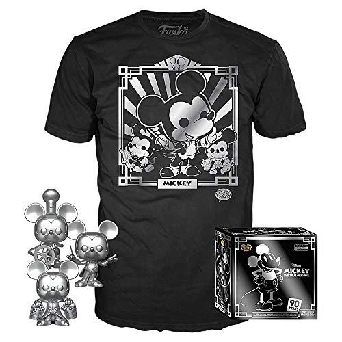 Amazon: Funko Pop! Paquete de 3 y Playera: Disney – Playera de Mickey 90