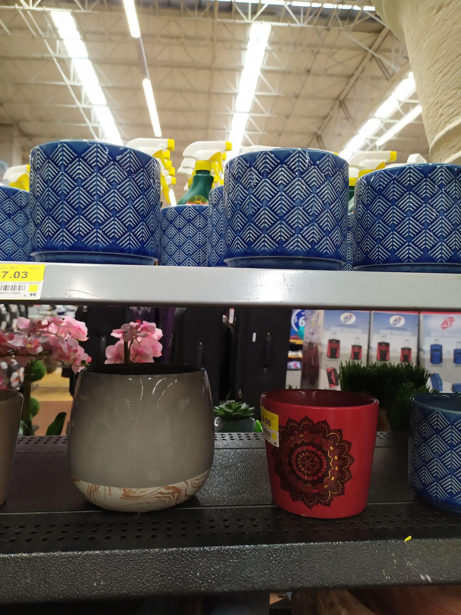 Walmart: macetas cerámica en última liquidación