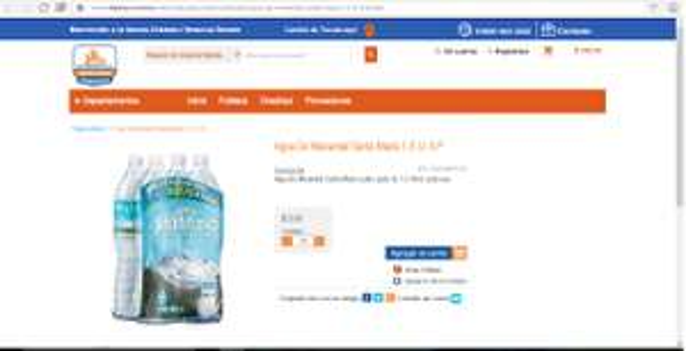 Chedraui Veracruz Dorado en línea: Agua de Manantial Santa María cuatro pack de 1.5 litros cada una a $3