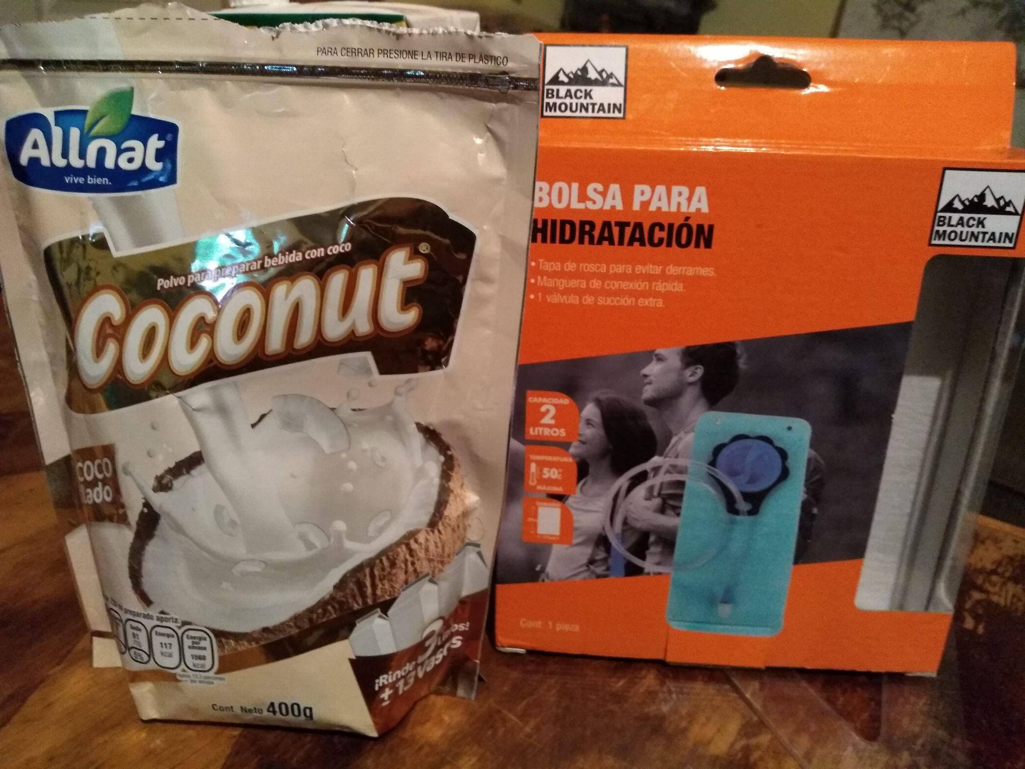 Walmart: bebida de coco, bolsa de hidratacion y sopa