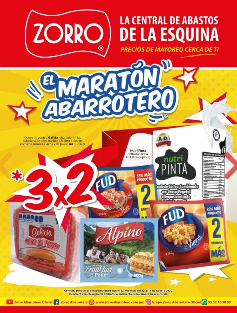 """Zorro: 10° Folleto de Ofertas Semanal """"El Maratón Abarrotero"""" del Miércoles 12 al Martes 18 de Agosto"""