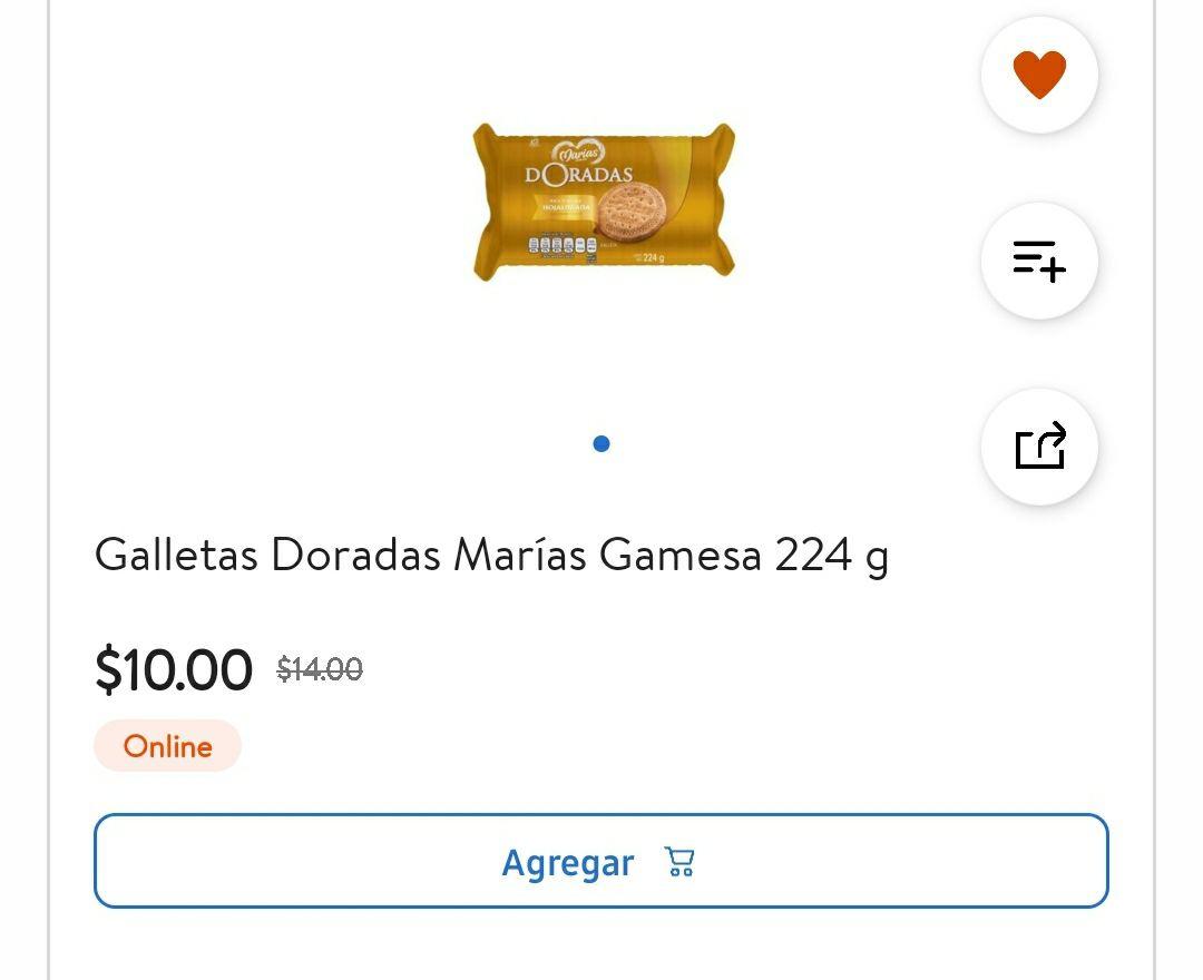 Walmart super: Galletas Doradas Marías Gamesa 224g