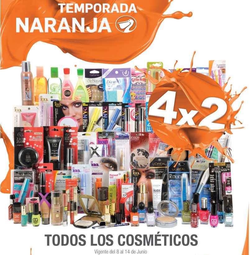 Temporada Naranja (antes Julio Regalado) en La Comer: 4x2 en cosméticos