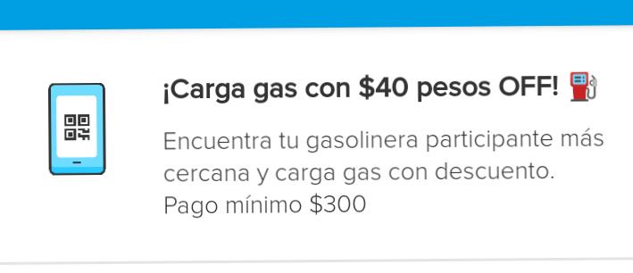 Mercadopago: descuento en carga de gasolina