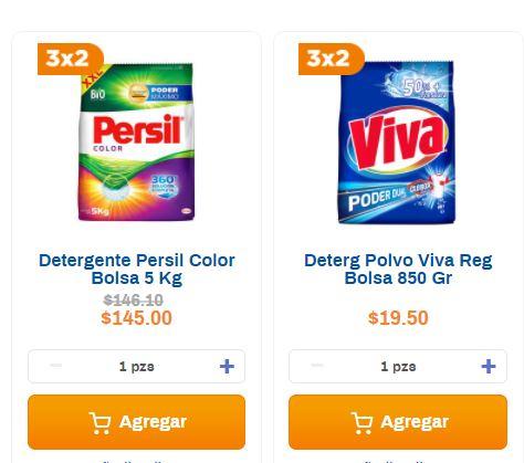 Chedraui: 3x2 Detergente en polvo Persil y Viva