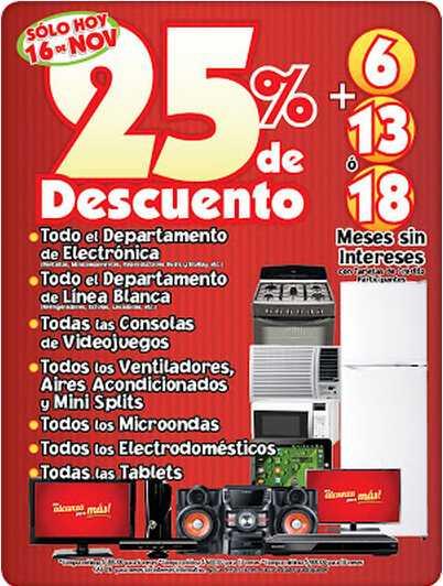 Ofertas del Buen Fin en Mercado Soriana: 25% de descuento en consolas y más
