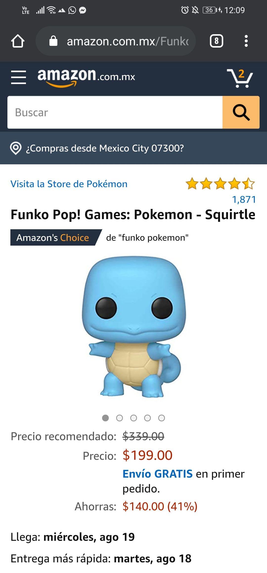 Amazon: Funko Pop Squirtle