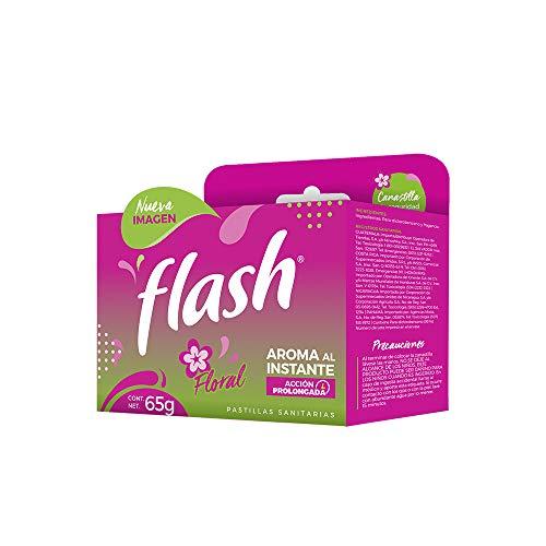 Amazon: FLASH Pastilla Sanitaria en Canastilla Flash Floral 65gr
