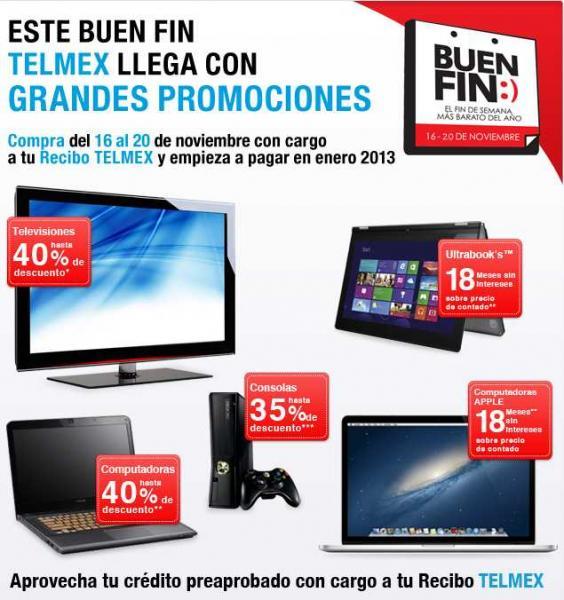 Ofertas del Buen Fin en Axtel y Telmex