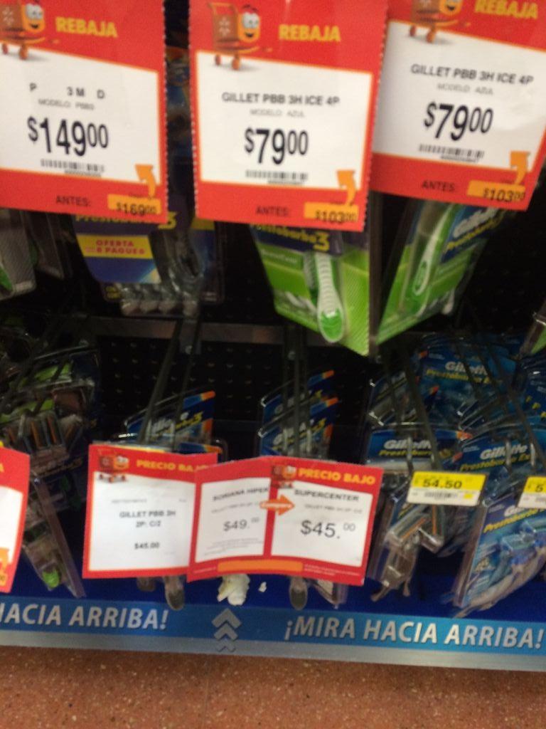 Walmart: Paquete de 4 rastrillos Gillete