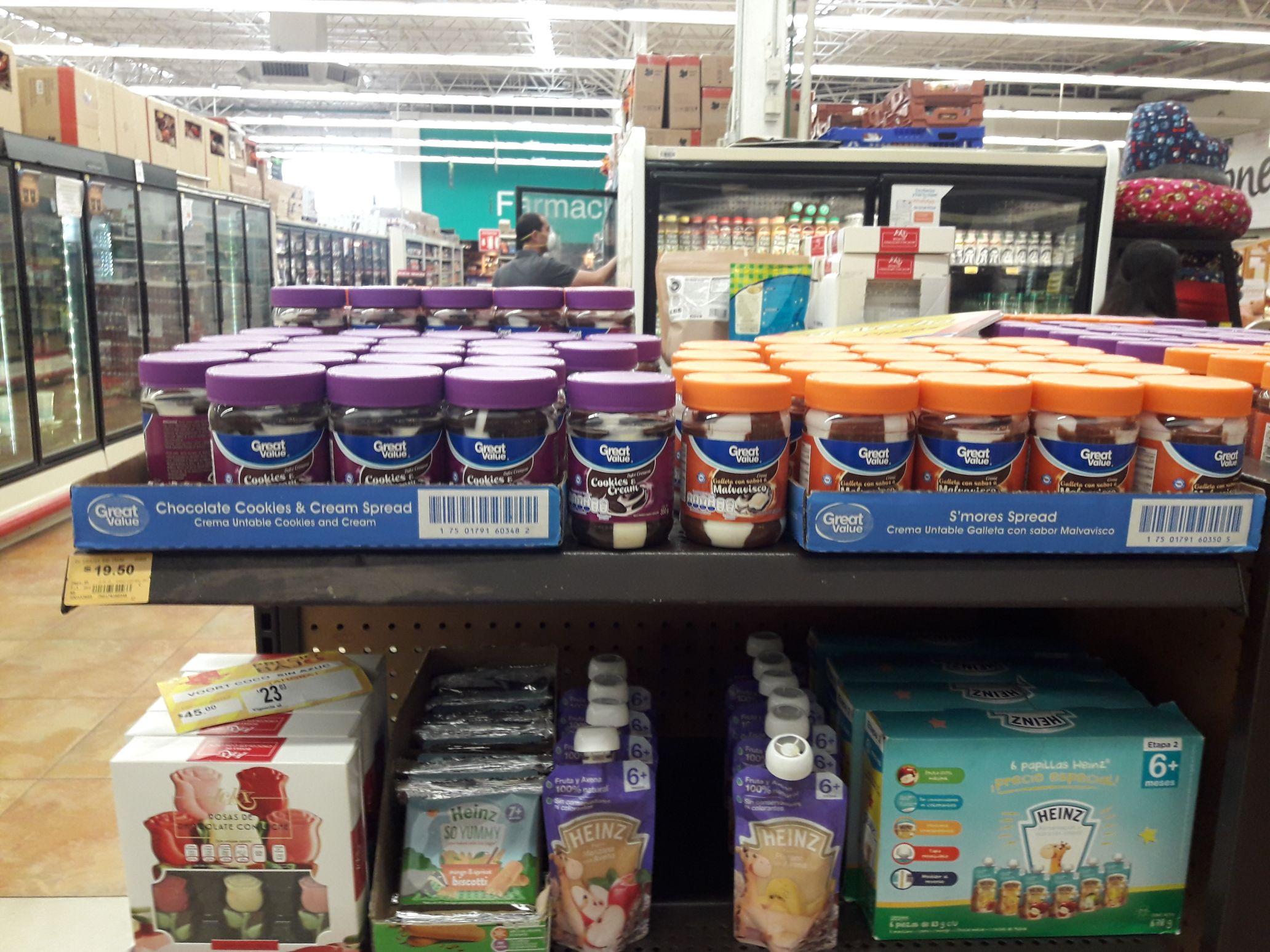 Superama Tecnológico, Metepec: Crema untable Cookies & Cream o Galleta con sabor Malvavisco