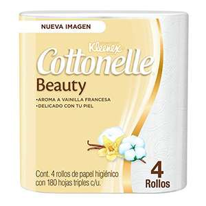 Amazon: Kleenex Cottonelle Papel Higiénico, color Blanco, 4 Rollos x 180 Hojas Triples