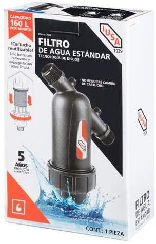 Home Depot: Filtro de Agua Estándar Lavable IUSA The Home Depot REMATE