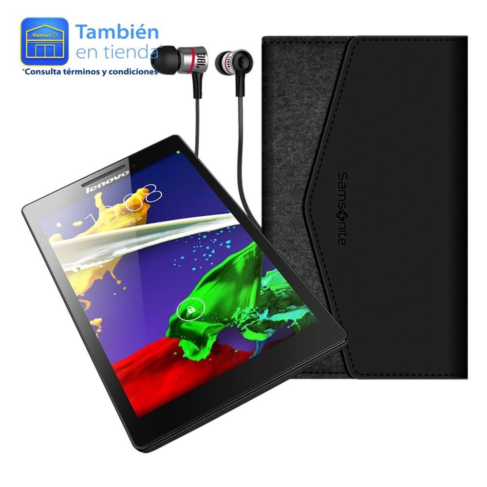 Walmart en línea: tablet Lenovo A7 más Funda y Audífonos JBL