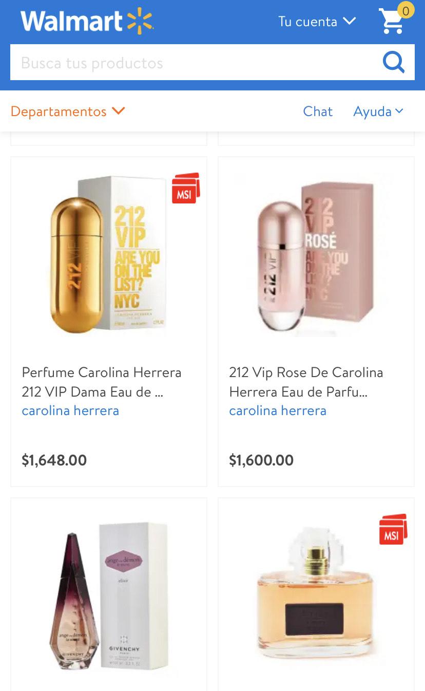 Walmart: Compra $999 o más en Perfumes y recibe una bonificación de $250