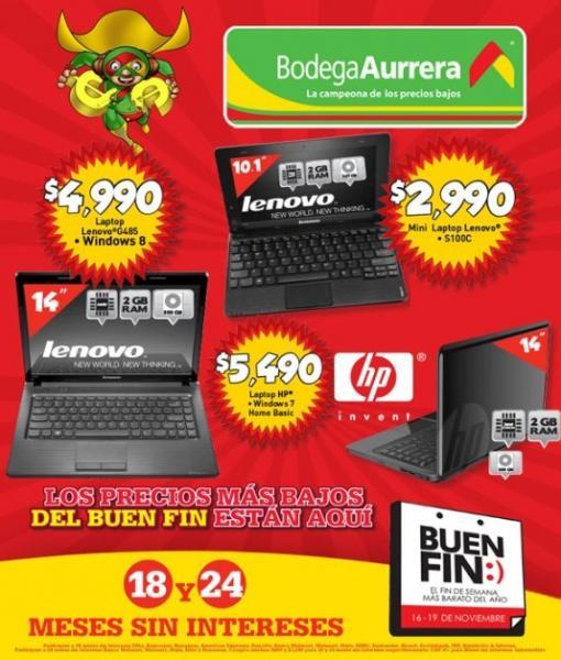 Ofertas del Buen Fin en Bodega Aurrerá (con folleto)