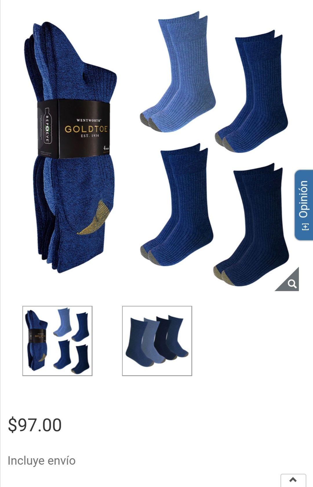 Costco - Gold Toe, Calcetines para Caballero, Azul