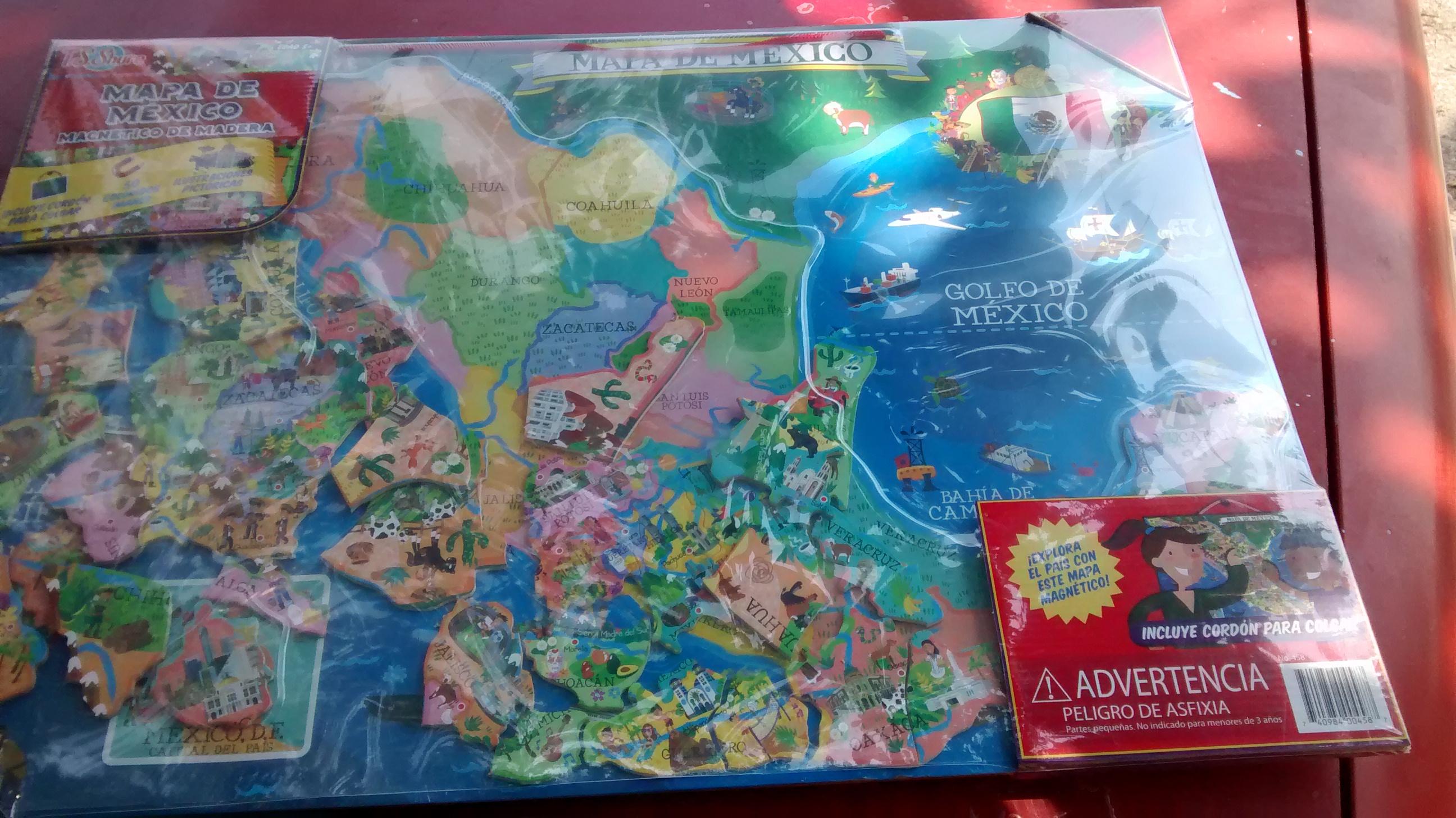 Sam's Club: Mapa/Rompecabezas Magnético de México de $499 a $100