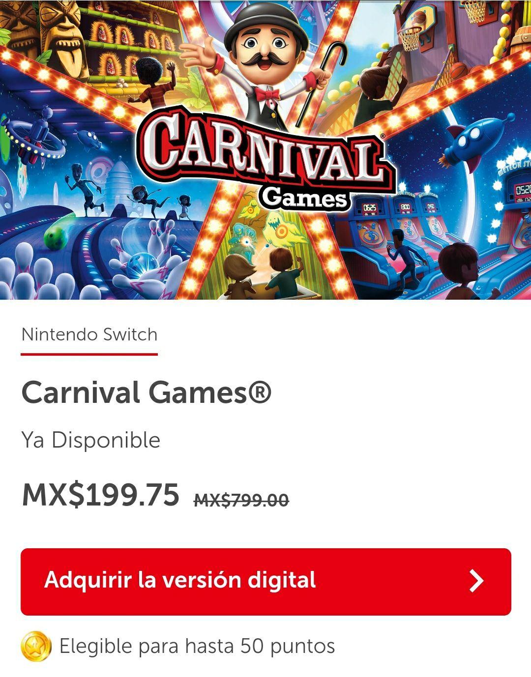 Nintendo eShop MX: Carnival Games - 2K - Nintendo Switch