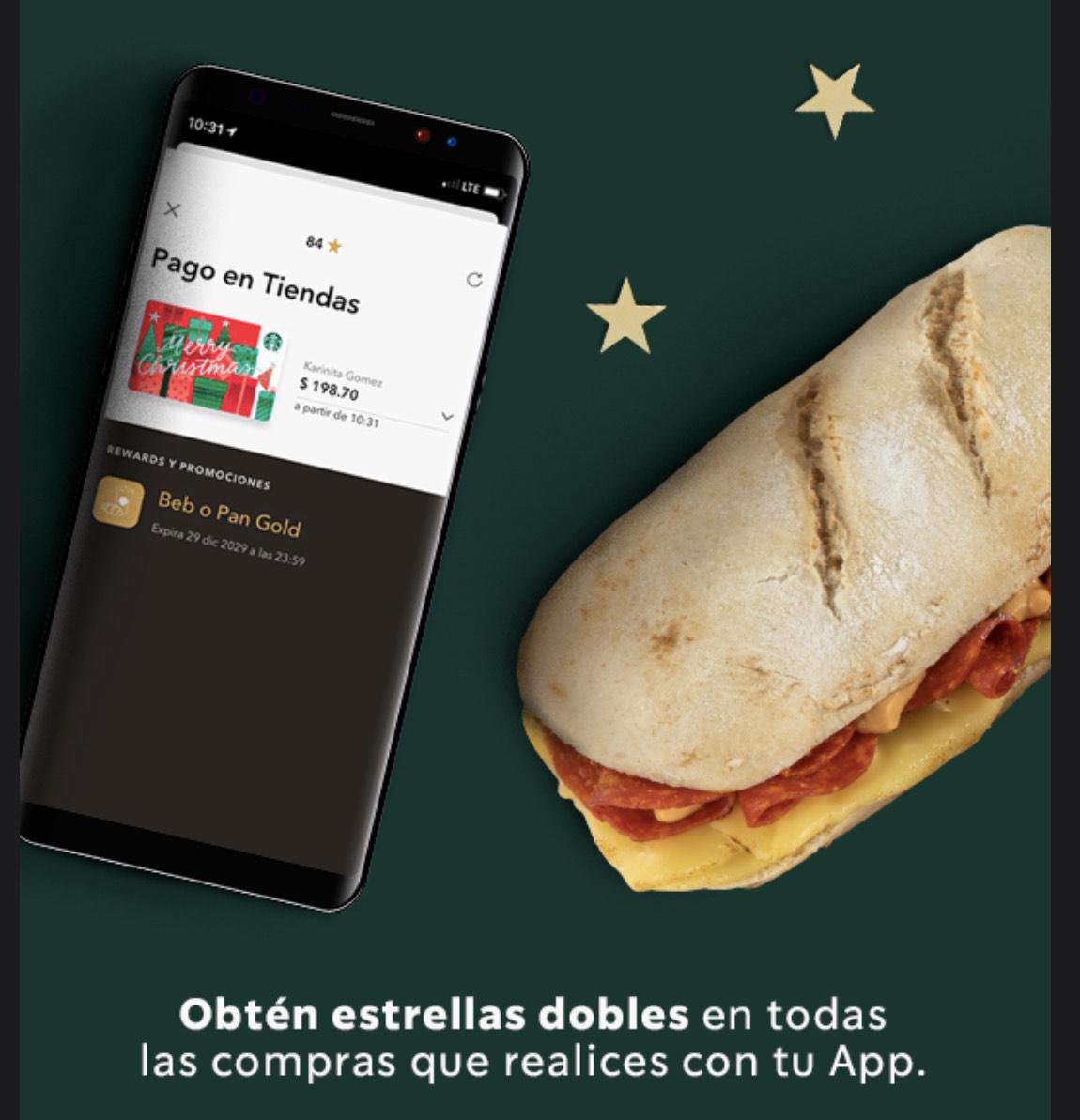 Starbucks: Estrellas Dobles (pagando con la app)