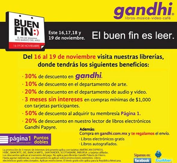 Ofertas del Buen Fin en Gandhi