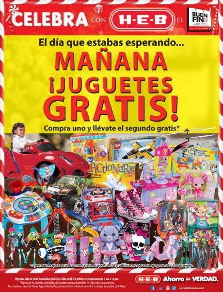 Ofertas del Buen Fin en HEB: 2x1 en juguetes y más (oferta extendida)