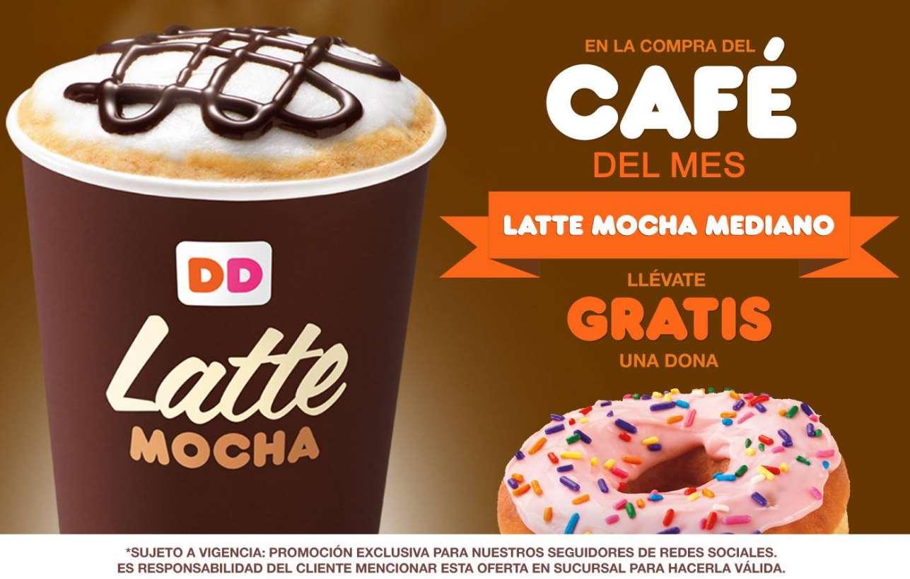 Dunkin Donuts: dona gratis comprando café latte mocha