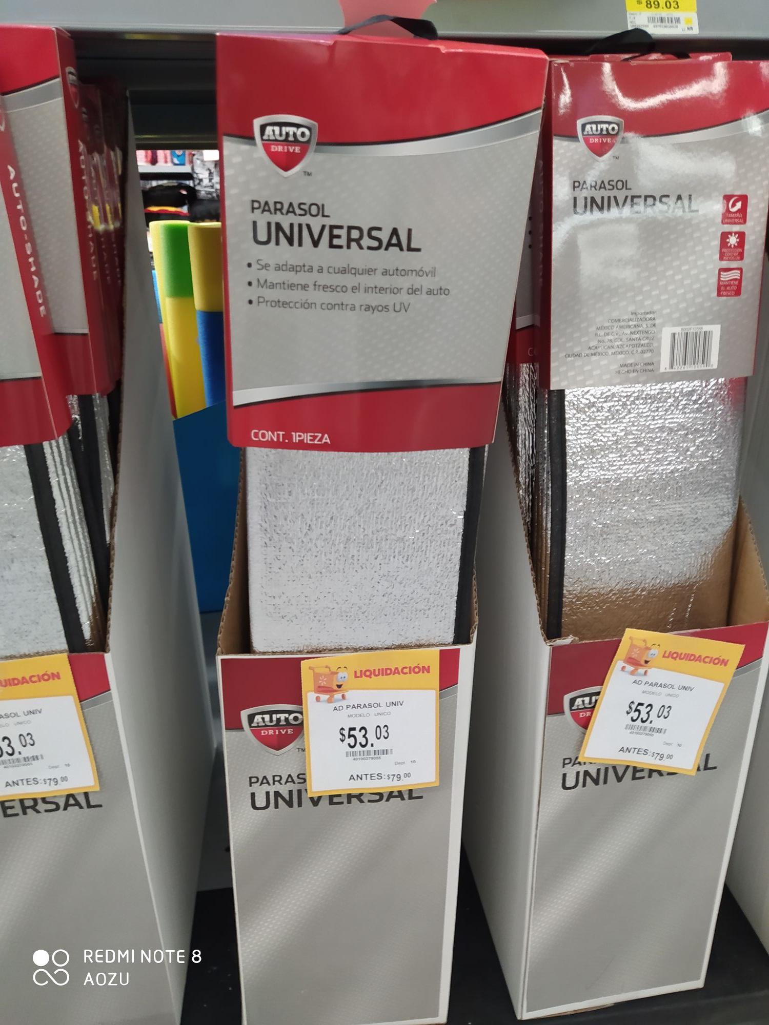 Walmart patio Tlalpan: Parasoles para auto