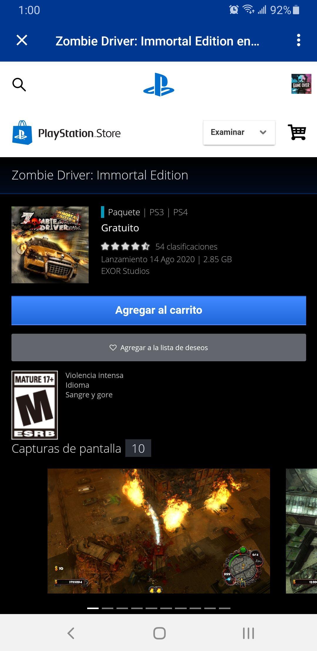 PSN: Zombie Driver Inmortal Edition PS4