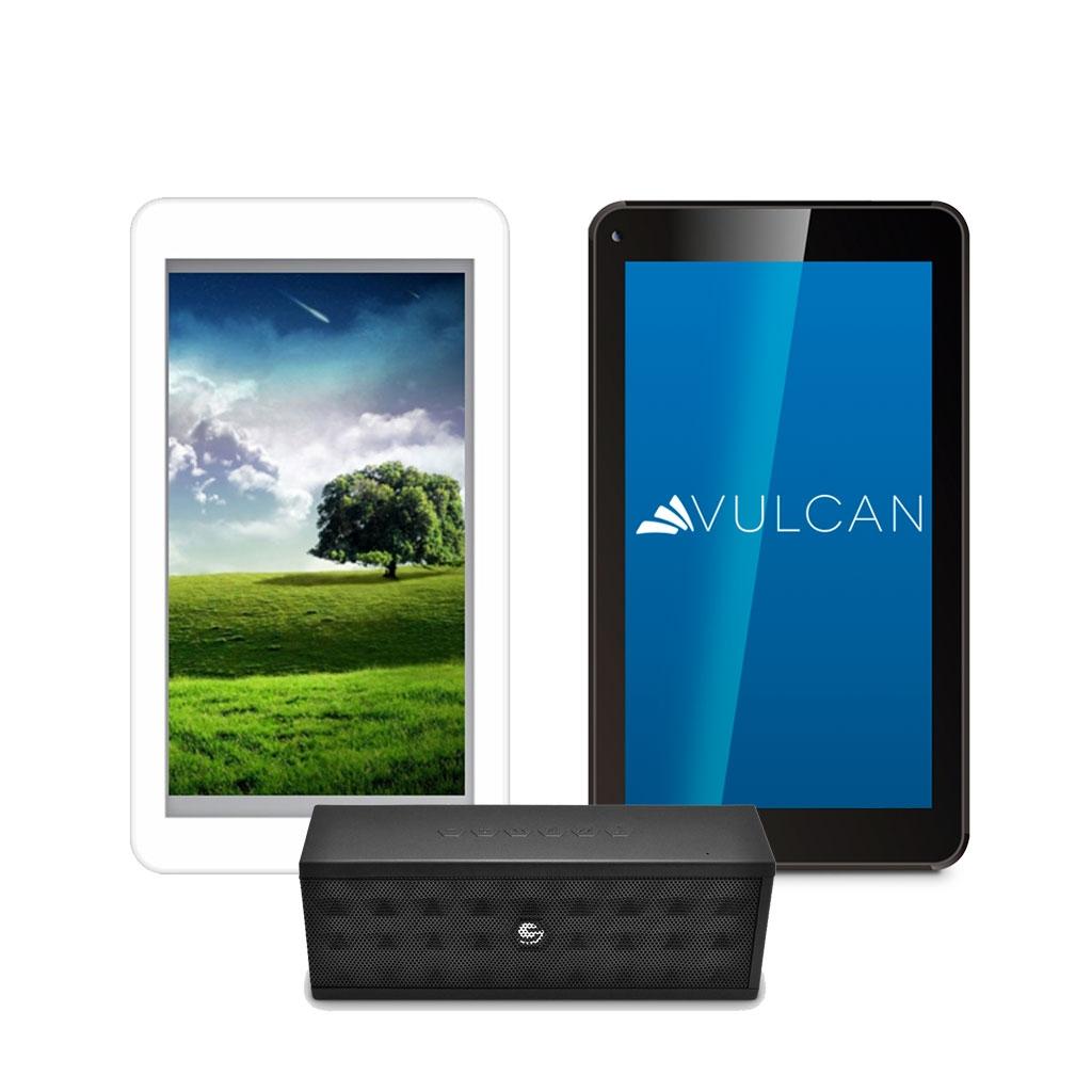 Famsa en línea: Paquete de 2 Tablets + Bocina Bluetooth