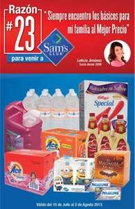 Folleto de ofertas Sam's Club del 15 de julio al 3 de agosto