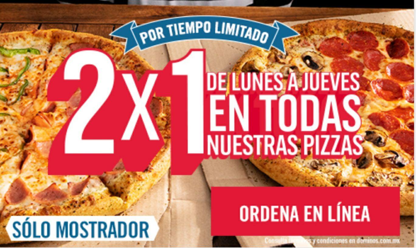 Domino's Pizza: Querétaro y Puebla 2x1 en todas las Pizzas