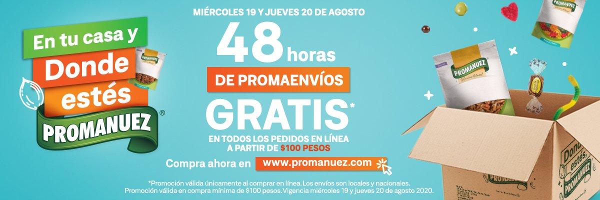 Promanuez: Envío gratis en compra mínima de $100 solo hoy